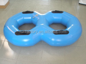High quality blue figure 8 inflatable water skiing for water park