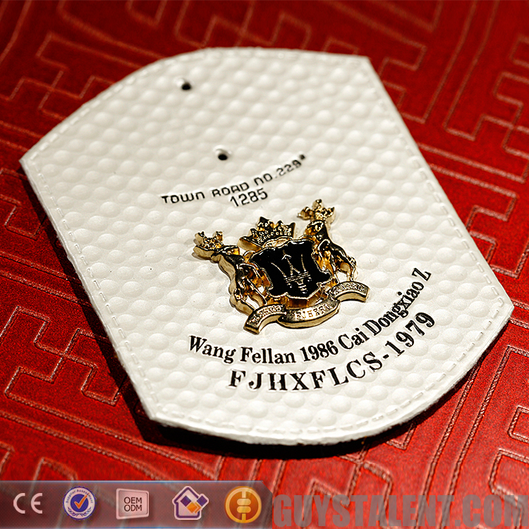 Newest popular custom jeans labels private brand leather patch for clothing and hat