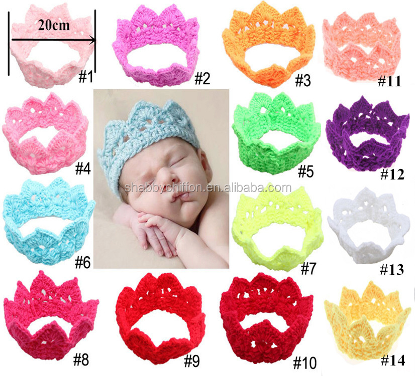 New Hot Sale!!Kintted Tiara Headband / Crocheted Crown hat / Newborn Headwear/ hair accessories