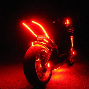 Million color motorcycle led wheellight with decorative strips million color motorcycle led wheellight with decorative strips remote control and waterproof automotive neon underglow light mozeypictures Gallery