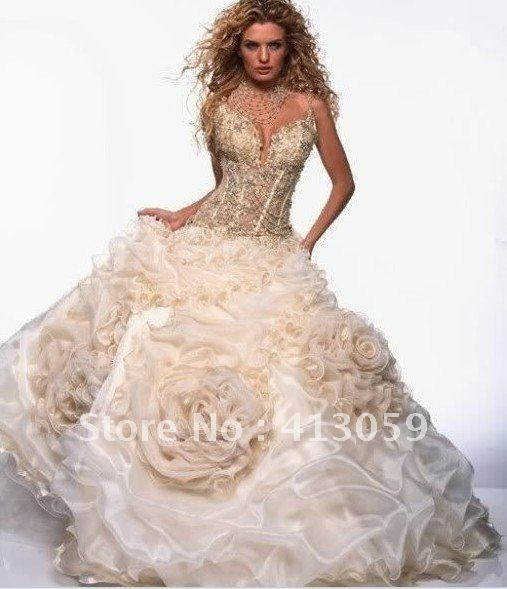 Hot New Free Shipping Perfect Wedding Dress Bridal Gown