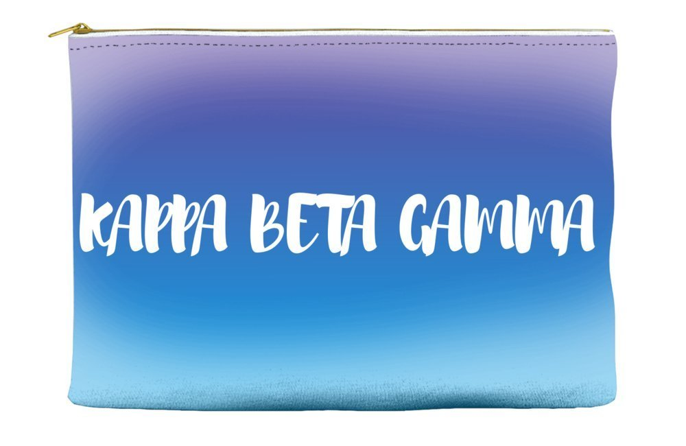 Kappa Beta Gamma Ombre Sunset Purple Blue Cosmetic Accessory Pouch Bag for Makeup Jewelry & other Essentials