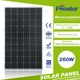260W mono solar panel with 96pcs 5 inch high efficiency cells