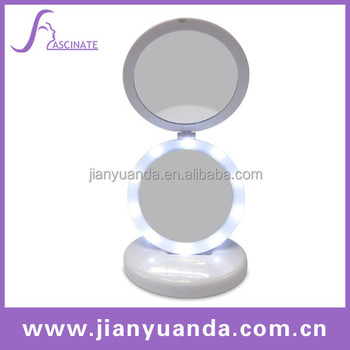 Superb Stand Up Table Mirrors / Foldable Table Mirror / Table Top Lighted Vanity  Mirror / Folding
