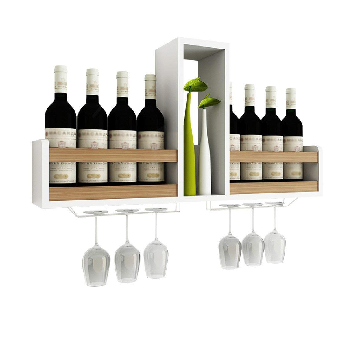 Sunday Qh Wine Racks Wall Hangings Wrought Iron Shelves Cabinets Hanging Gl Holders Vintage Pipes Creative Decoration E