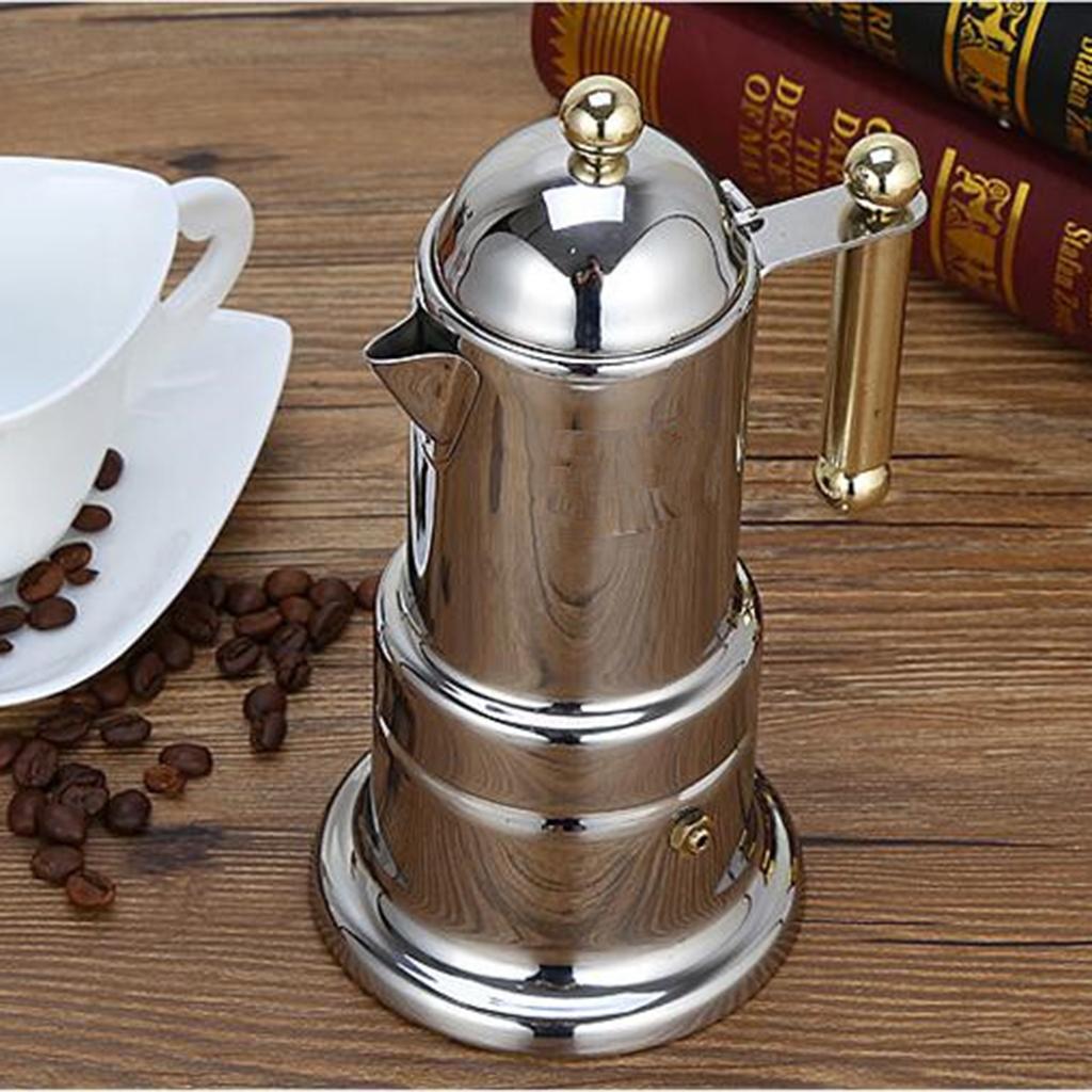 Moka Pot Coffee Maker Stovetop Espresso Maker Italian ...