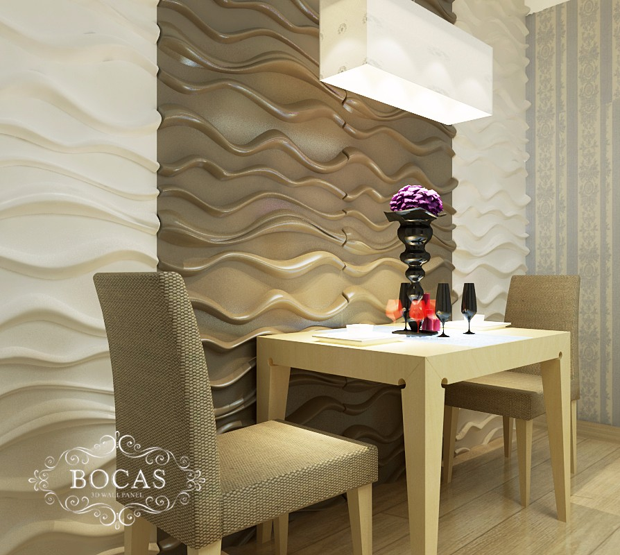 Guangzhou Interior Decoration Office Bamboo Wallpapers Fiber Decor Wall  Coating 3D Panels