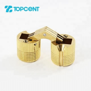 TOPCENT furniture hardware cabinet antique brass butterfly invisible door mini barrel hinge