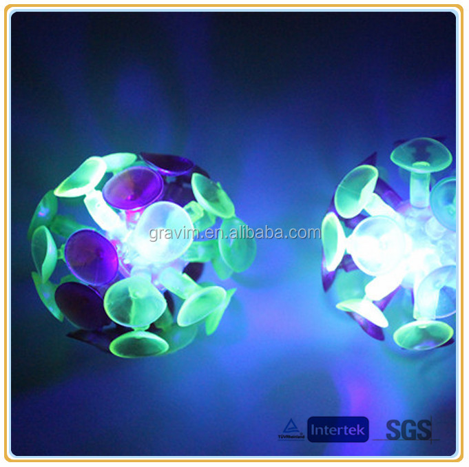 2014 New Custom Bulk Factory Hot Cheap Glow In The Dark Suction Ball