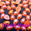 fast shippping pearl flat back half round AB color water drop shape pearls