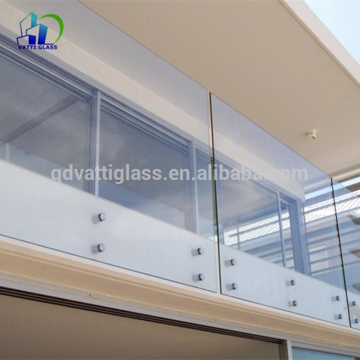 Supply best quality standard size tempered glass fence panel with low price
