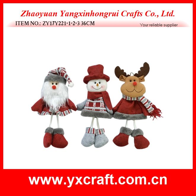 Christmas hanging decoration (ZY17Y221-1-2-3 36CM) santa snowman reindeer hanging craft