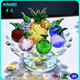 Hot selling crystal fruit, exquisite crystal fruit, decorative crystal glass fruit