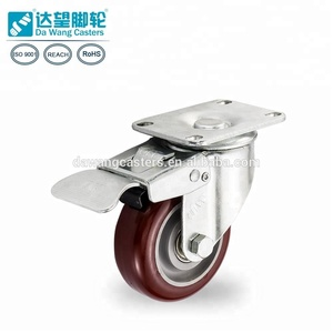 China big factory 75mm wheel caster for wood floor