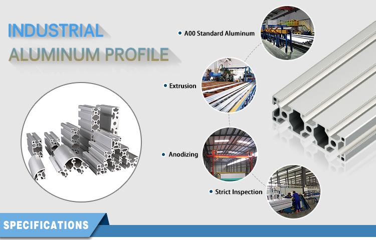 Cadre d'extrusion en aluminium pour CNC, Extrusion avec fente en T, u 5050, 50x50mm