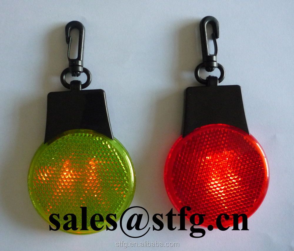 colorful customized flash safety plastic bag reflective hanger light reflector