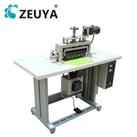 high speed semi-automatic fabric flower ultrasonic lace trim machine 300mm sewing width