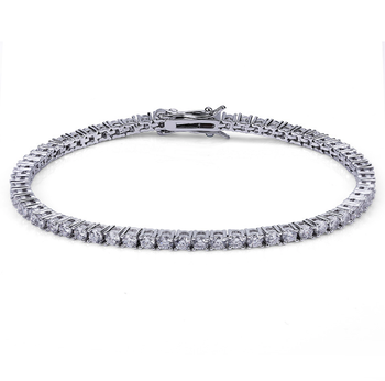 9eadadbf6e940 Hiphop Silver Cz Fake Diamond 3mm Men's Tennis Chain Bracelet - Buy Tennis  Bracelet,Tennis Bracelet Silver,Cz Tennis Bracelet Product on Alibaba.com