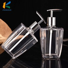 Clear Glass Shampoo Lotion Bottle With Metal Pump Sprayer
