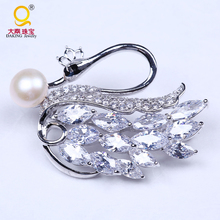 Wholesale wedding invitation swan brooches for women