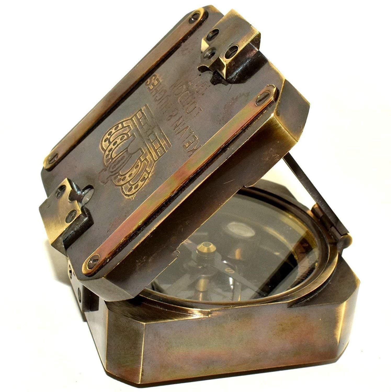antique compass handmade gift Solid brass kelvin /& Hughes 1917 Brenton Compass