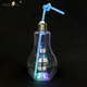 New Summer Bulb Water Bottle Fashion Milk Juice Light Bulbs Cup Leak-proof 500ml LED three color flashlight Iced beverage bottle