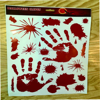 blood fingerprint halloween clingsholiday window clingsstatic cling decal