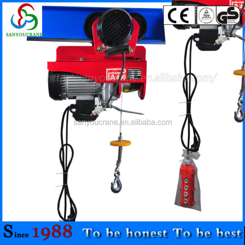 PA400B mini electric hoist with CE 200 pa400b electric wire rope hoist, pa400b electric wire rope hoist  at soozxer.org