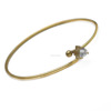 China Jewelry Supplier Online Wholesale Rose Gold Expandable Bangle Bracelet DIY Adjustable Bangle