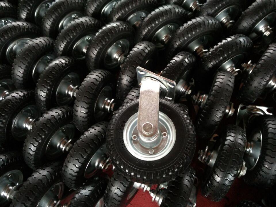PU schiuma riempito cerchio in alluminio di scooter ruota caster