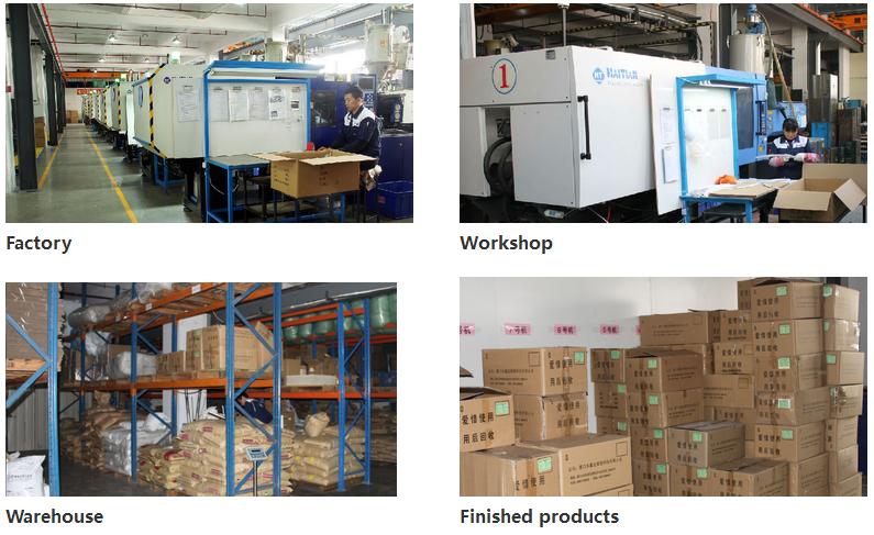 Custom made schimmel en injectie gegoten plastic onderdelen voor grondstoffen