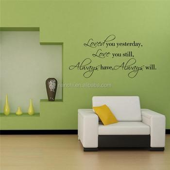 engels spreuken liefde muurstickers gesneden zitkamer slaapkamer zoete romantiek muurstickers