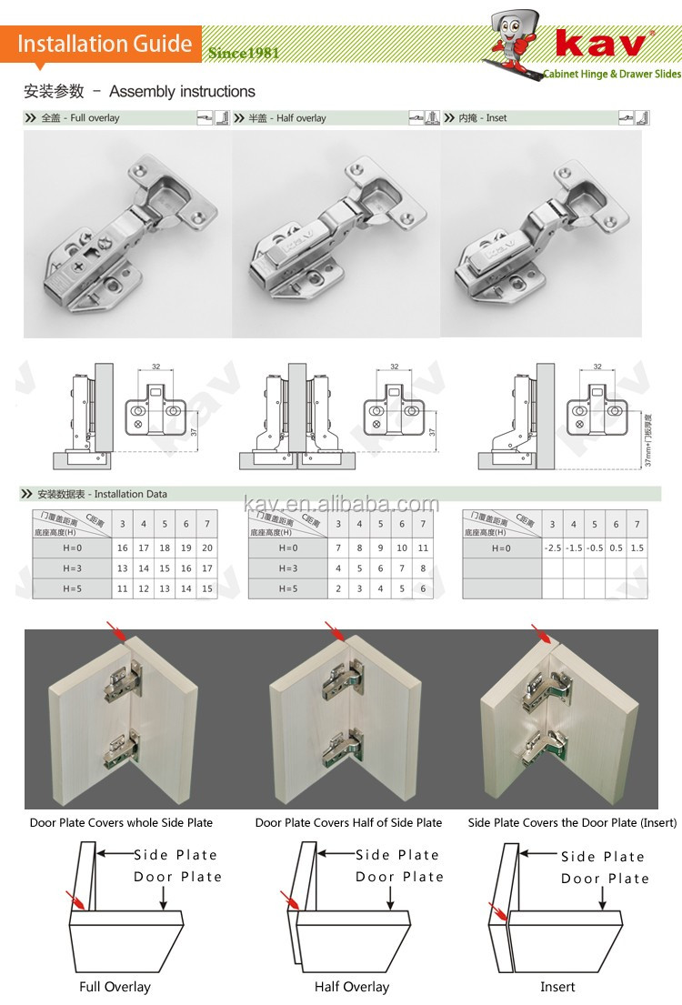 3D adjustable hinge 12-28mm thick door panel soft closing adjustable hinge