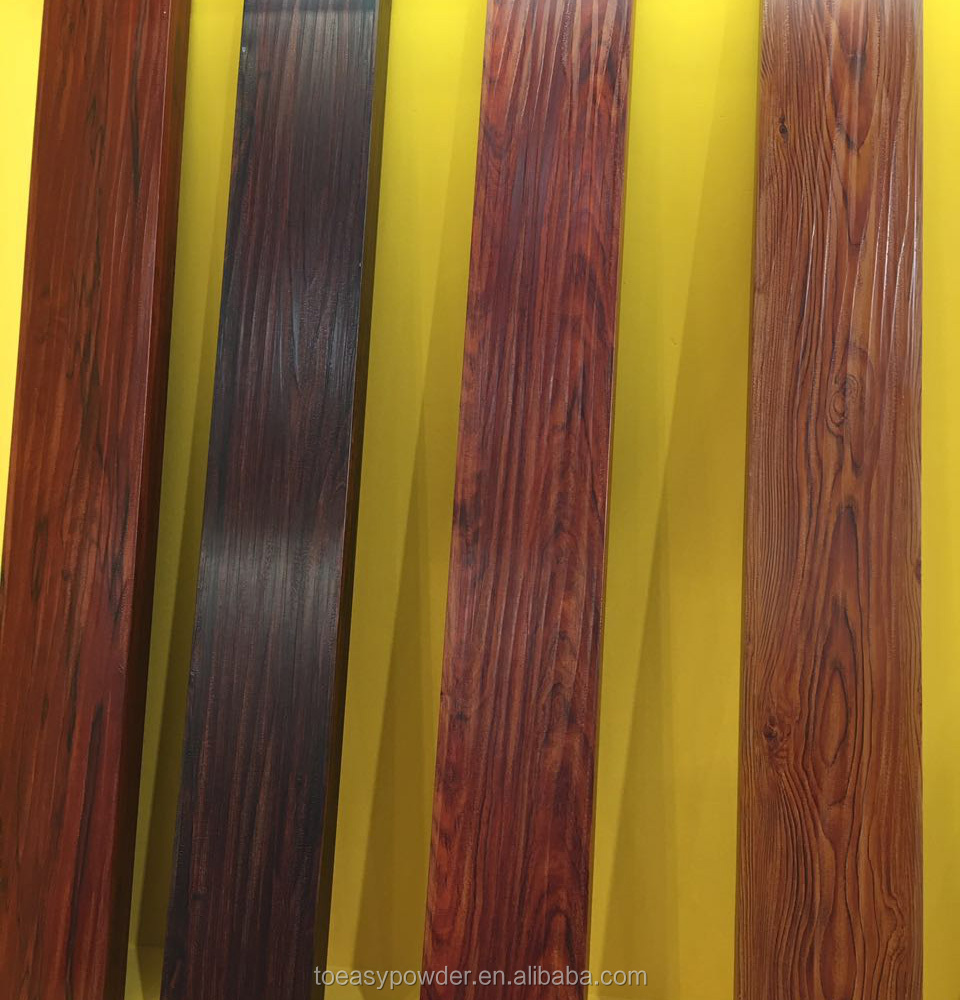 Antique Wood Grain Transfer Spray Polyester Resin Powder Coating for Aluminium Profiles