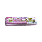 Pencil Tin Case Tin Pencil Box Hot Sale Fashion Stationary Empty Pencil Tin Box Case With Compartments