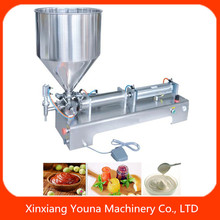 semi automatic peanut butter/chilli sauce filling machine