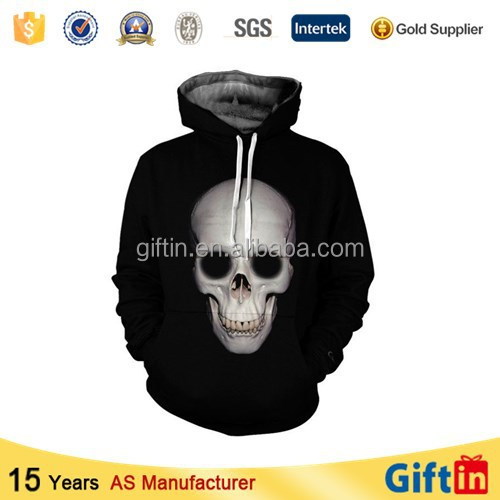 Wholesale round neck pullover, custom 3d sublimation cheap,pullover black hoodie
