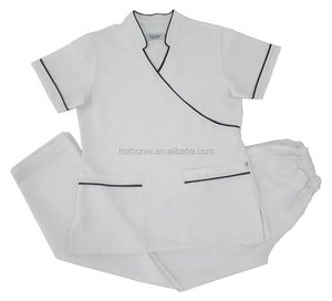 Custom V-neck top Hospital Uniform New Prints Scrubs Nursing Uniforms Wholesale
