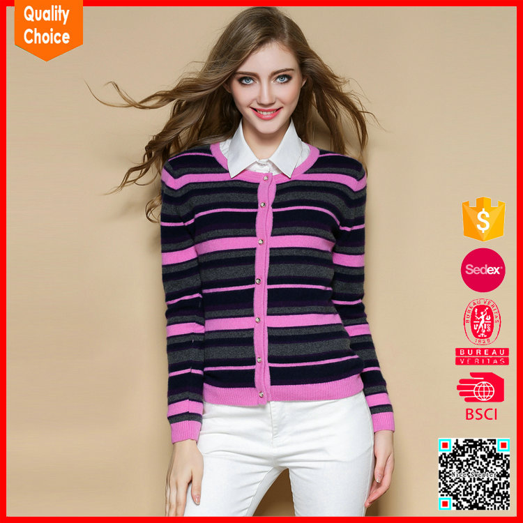 Latest fashion style knitted woolen sweater designs for ladies