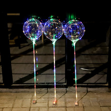 Christmas Party LED Lights Up BOBO Balloon Colorful Flash String lights led bubble balloon