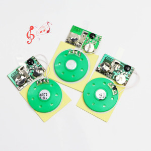 Press button open the card Melody Greeting Card ic chip Sound Module