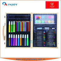 coloring stationery drawing wooden box with high quality