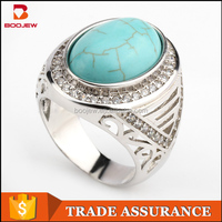 China supplier wholesale classical Indonesia products high quality custom turquoise stone men ring
