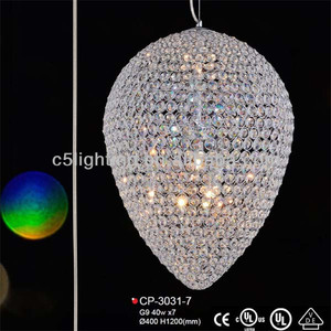 hot sale Hanging K9 Crystal Beaded Shade Egg Crystal Tears Lamp