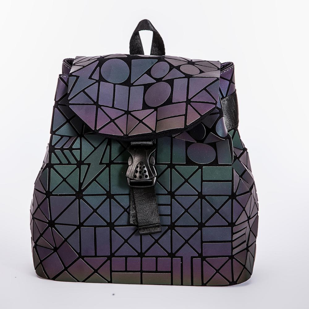 wholesale custom fashionable girls teenager geometric leather <strong>backpack</strong> women