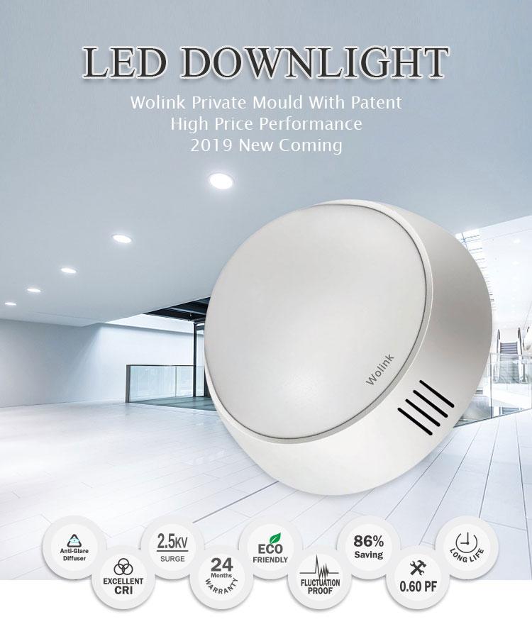 3 jaar garantie indoor verlichting opbouw surge beschermen 7watt led downlight