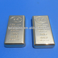 1 troy oz .999 fine gold plated bars