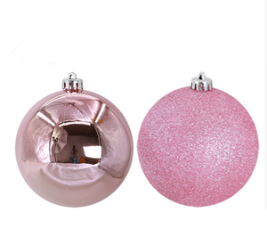 Wholesale plastic christmas ball ornaments Glitter Christmas Ornaments