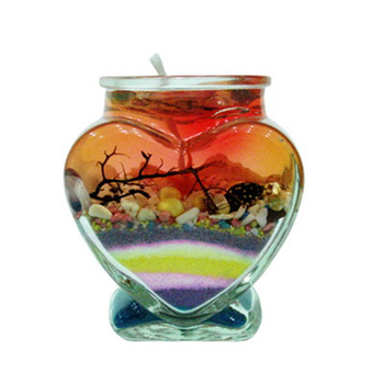 birthday and christmas color jelly glass candle ho
