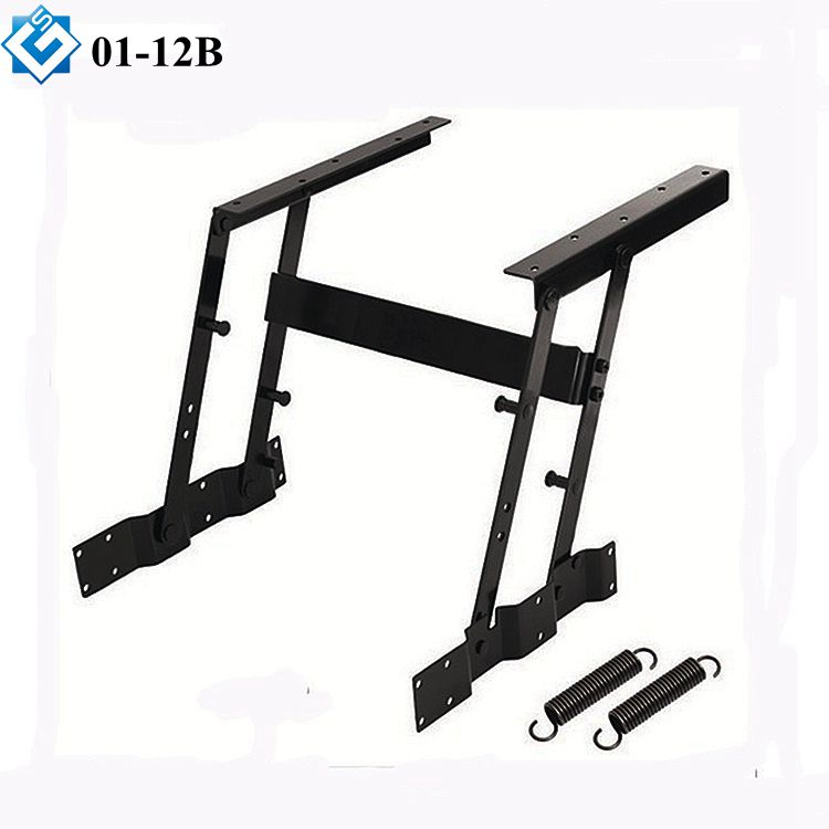furniture raising top adjustable height diy extendable lift top one flat bar coffee table mechanism with spring assist
